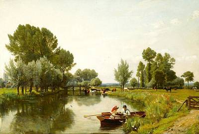 Dedham Painting - Boating On The Stour At Dedham by MotionAge Designs