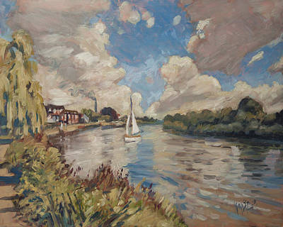 Boat Painting - Boating On The Thames by Nop Briex