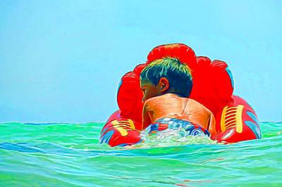 Mixed Media - Boating by Pamela Walton