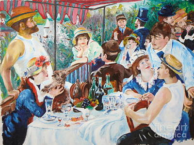 Painting - Renoir's Boating Party Luncheon by James Lavott