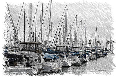 Boating Quite Time In The Harbor Pa 03 Print by Thomas Woolworth