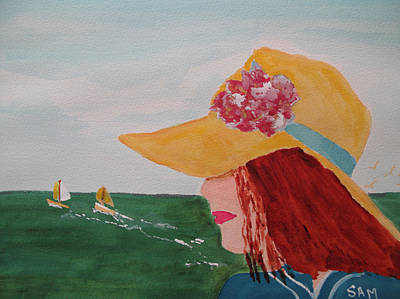 Art Print featuring the painting Boating by Sandy McIntire