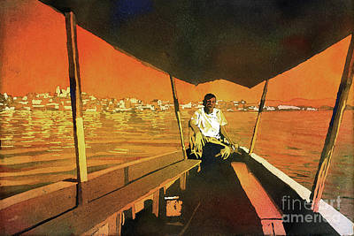 Painting - Boatman Guatemala by Ryan Fox