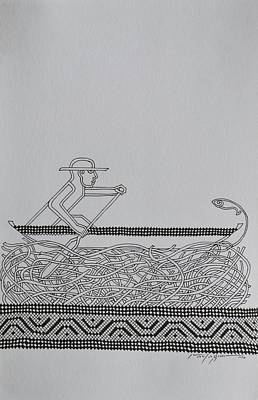 Boatman Art Print by Raul Agner