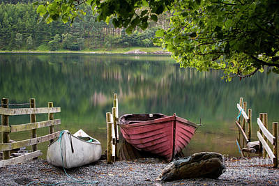Boats Along Buttermere Art Print
