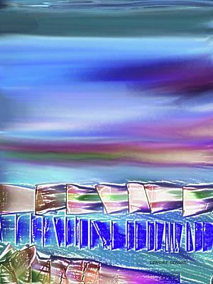 Boats Along The Shore Art Print