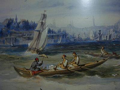 Amedeo Preziosi Painting - Boats by Amedeo Preziosi