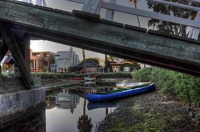 Photograph - Boats And Bridge by Richard Omura