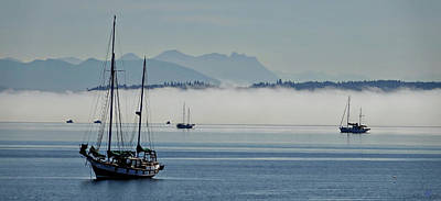 Photograph - Boats And Fog by Rick Lawler