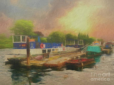 Photograph - Boats And Geese by Leigh Kemp