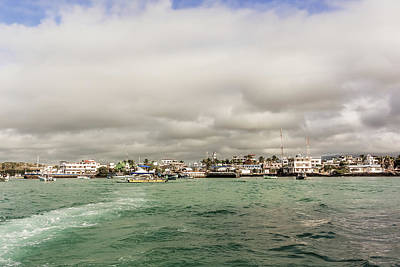 Photograph - Boats And The Bay At Puerto Ayora On Santa Cruz Island In Galapa by Marek Poplawski