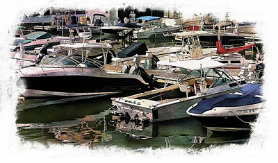 Digital Art - Boats And Yachts by Anthony Dezenzio