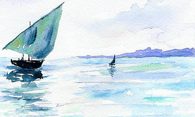 Boats Art Print by Anne Marie Brown