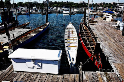 Boats At An Empty Dock 3 Art Print by Nishanth Gopinathan