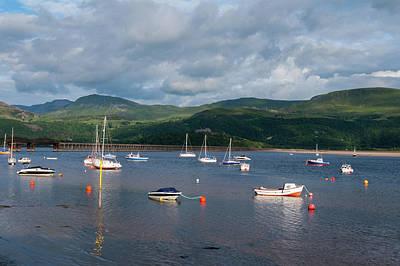 Boats At Barmouth. Art Print