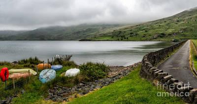 Storm Digital Art - Boats At Cwmystradllyn  by Adrian Evans