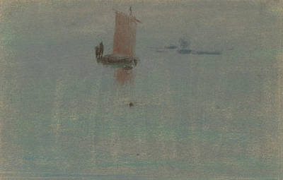 Pastel - Boats At Evening by Arthur Bowen Davies