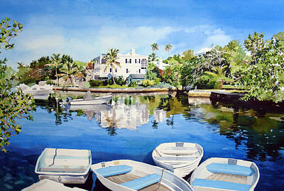 Boats At Dock Painting - Boats At Fairyland by Matthew Phinn