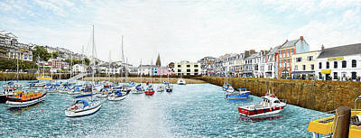 Painting - Boats At Ilfracombe Harbour by Mark Woollacott
