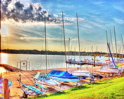 Boats At Lake Decatur Art Print by Ann Higgens