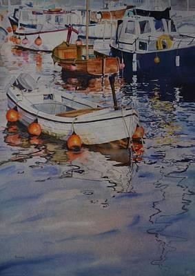 Painting - Boats At Marina by Elena Balekha