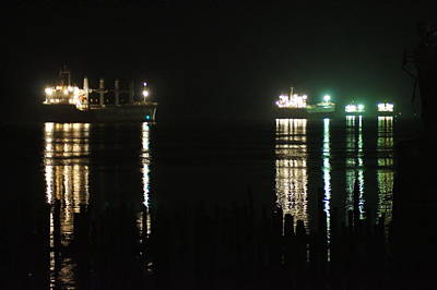 Photograph - Boats At Night by Angi Parks