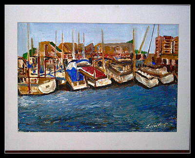 Painting - Boats At Rest by Anand Swaroop Manchiraju