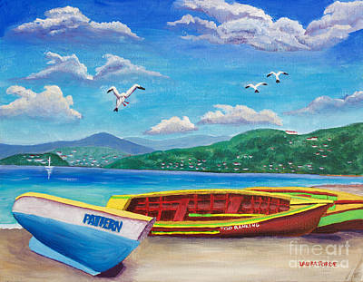 Painting - Boats At Rest by Laura Forde