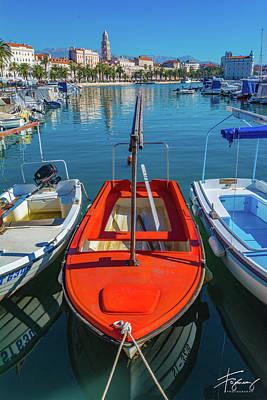 Photograph - Boats At Rovinj by Francisco Gomez