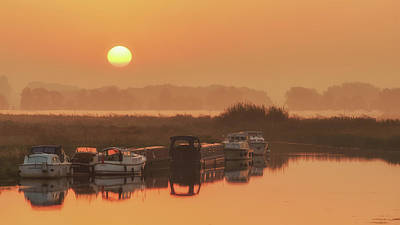 Photograph - Boats At Sunrise by James Billings