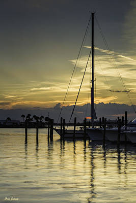 Photograph - Boats At Sunset by Fran Gallogly
