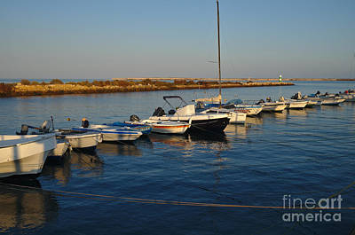 Fishing Boat Photograph - Boats At Sunset In Fuzeta by Angelo DeVal