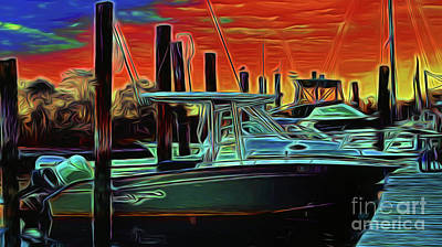 Photograph - Boats At The Dock 16518 by Ray Shrewsberry