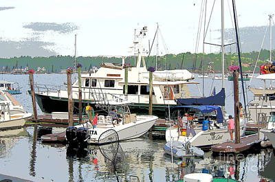 Photograph - Boats At The Dock by Bob Brents