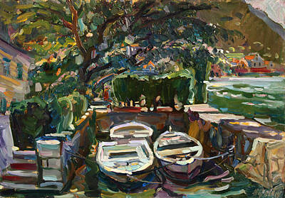 Painting - Boats At The Pier. Sold by Juliya Zhukova