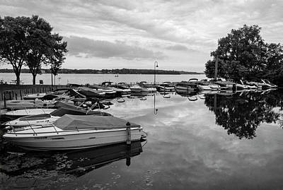 Boats At Wayzata Art Print