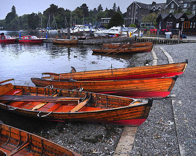Boats At Windermere Art Print