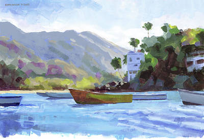 Recently Sold - Transportation Royalty-Free and Rights-Managed Images - Boats at Yelapa by Douglas Simonson