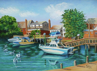 Boats Behind Cross Bay Blvd. Art Print