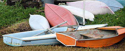Skiff Painting - Boats Boats And More Boats by Barbara Snyder