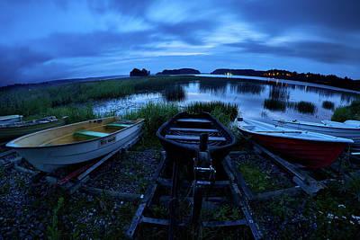 Photograph - Boats By Night by Jouko Lehto