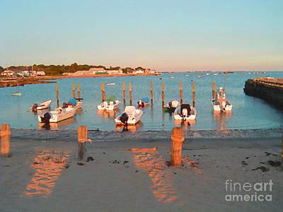 Boats By The Beach Art Print