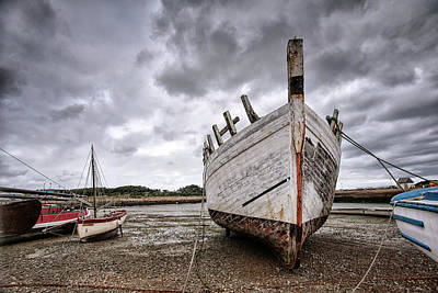 Decay Photograph - Boats By The Sea by Nailia Schwarz