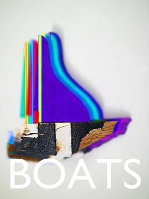 Boats Digital Art - Boats by Charles Stuart
