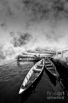 Photograph - Boats by Charuhas Images