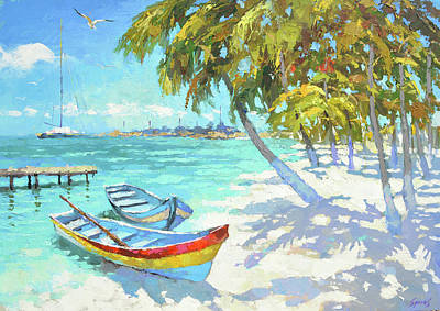 Painting - Boats  by Dmitry Spiros