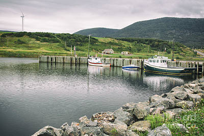 Photograph - Boats Docked In Harbor Cape Bretton Island ,, Nova Scotia by Nick Jene