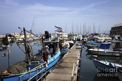 Photograph - Boats Docked In Jaffa by John Rizzuto