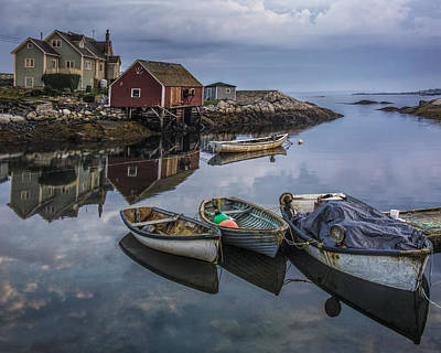 Photograph - Boats Docked In The Harbor At Peggy's Cove by Randall Nyhof
