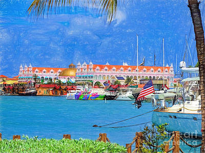 Photograph - Boats In Aruba by Sue Melvin